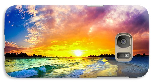 Galaxy Case featuring the photograph The Most Beautiful Sunset In The World by Eszra Tanner