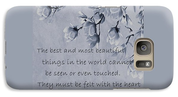 Galaxy Case featuring the mixed media The Most Beautiful Things In The World by Movie Poster Prints