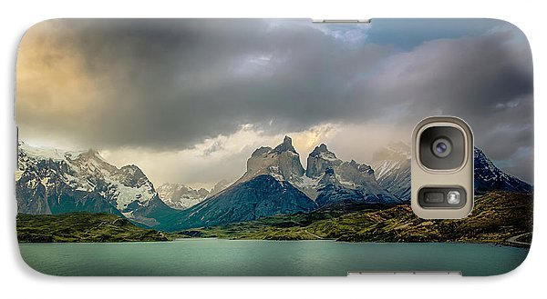 Galaxy Case featuring the photograph The Mountains On The Lake by Andrew Matwijec