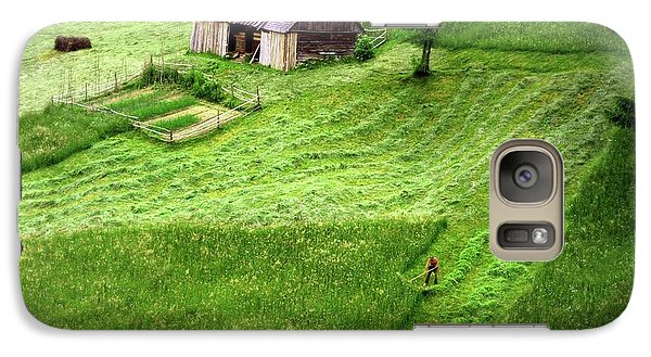 Galaxy Case featuring the photograph The Mower by Emanuel Tanjala