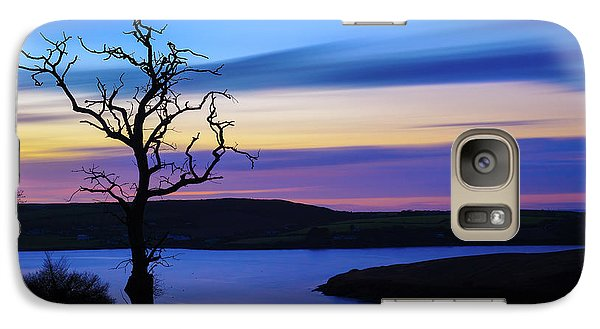 Galaxy Case featuring the photograph The Naked Tree At Sunrise by Semmick Photo