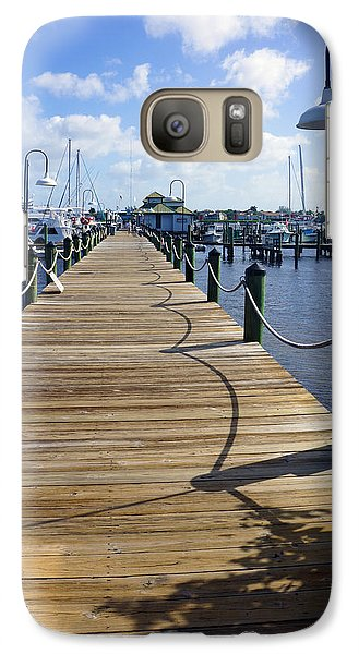 Galaxy Case featuring the photograph The Naples City Dock by Robb Stan