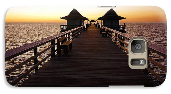 Galaxy Case featuring the photograph The Naples Pier At Twilight - 01 by Robb Stan