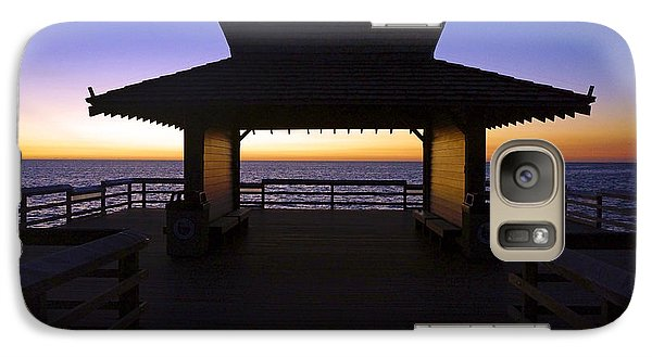Galaxy Case featuring the photograph The Naples Pier At Twilight - 02 by Robb Stan
