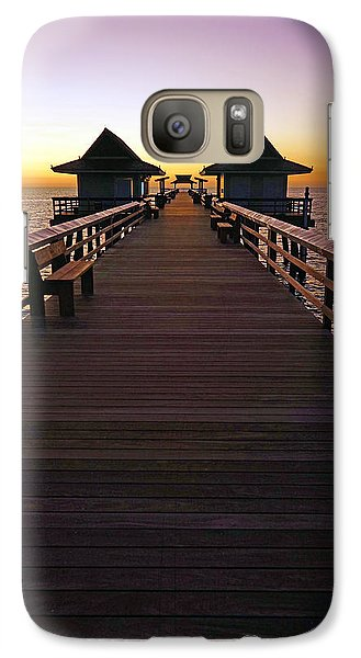 Galaxy Case featuring the photograph The Naples Pier At Twilight by Robb Stan