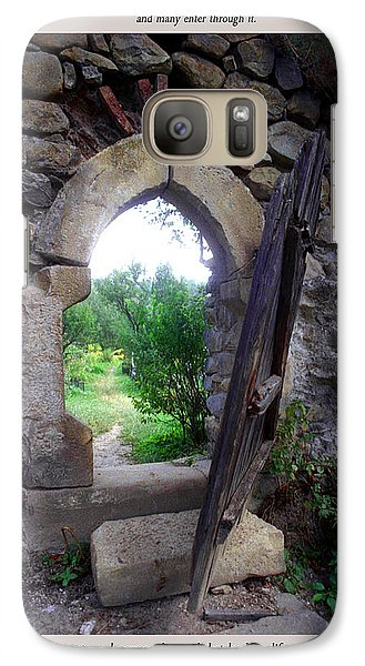 Galaxy Case featuring the photograph The Narrow Gate by Emanuel Tanjala