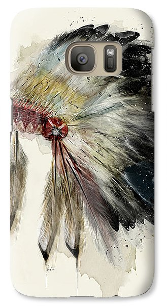 Galaxy Case featuring the painting The Native Headdress by Bri B