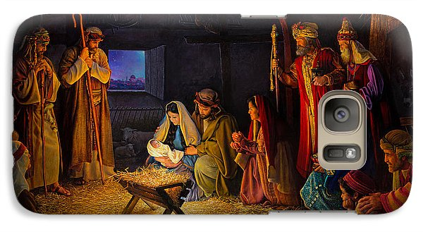 Galaxy Case featuring the painting The Nativity by Greg Olsen
