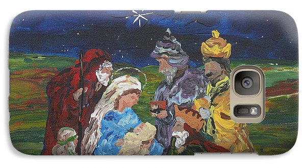 Galaxy Case featuring the painting The Nativity by Reina Resto