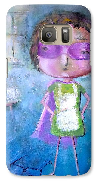 Galaxy Case featuring the painting The Nerearsighted Super Mom by Eleatta Diver