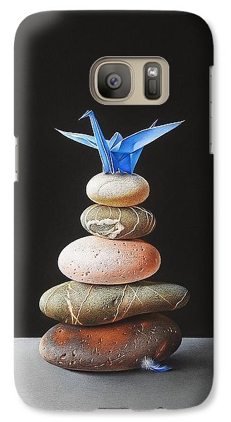 Galaxy Case featuring the drawing The Nest by Elena Kolotusha