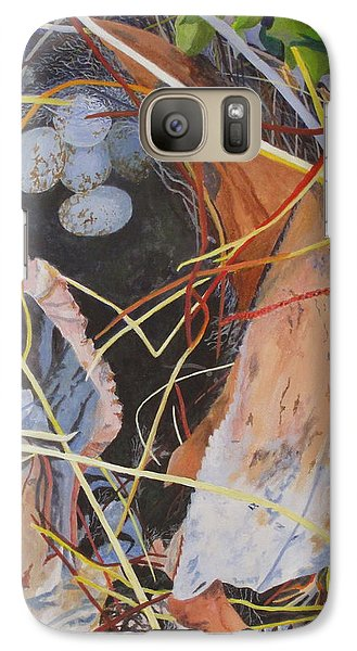 Galaxy Case featuring the painting The Nest by Hilda and Jose Garrancho