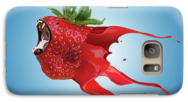 Galaxy Case featuring the photograph The New Gmo Strawberry by Juli Scalzi