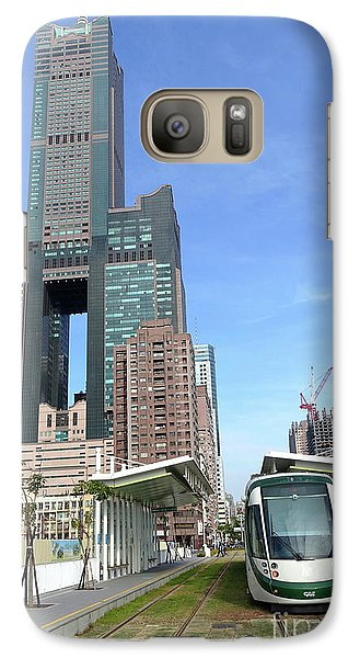 Galaxy Case featuring the photograph The New Kaohsiung Light Rail Train by Yali Shi