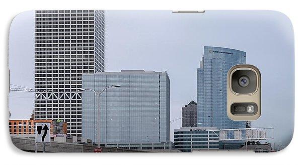 Galaxy S7 Case featuring the photograph The New Milwaukee Skyline by Randy Scherkenbach