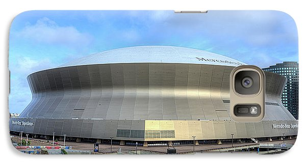 Galaxy S7 Case featuring the photograph The New Orleans Superdome by JC Findley