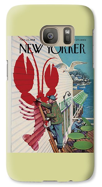 Food And Beverage Galaxy S7 Case - The New Yorker Cover - March 22nd, 1958 by Arthur Getz
