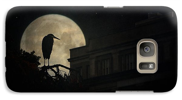Galaxy Case featuring the photograph The Night Of The Heron by Chris Lord