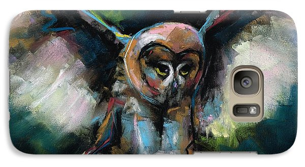 Galaxy Case featuring the painting The Night Owl by Frances Marino
