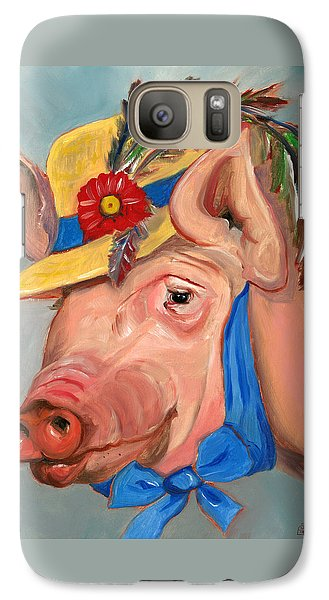Galaxy Case featuring the painting The Noble Pig by Susan Thomas