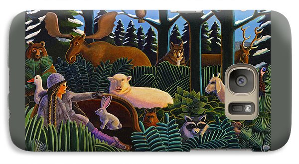 Galaxy Case featuring the painting The North Woods Dream by Robin Moline