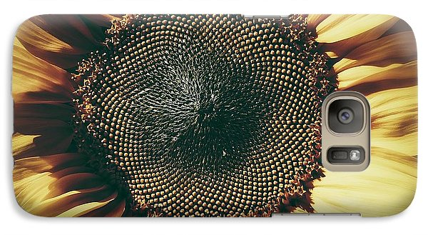 Galaxy Case featuring the photograph The Not So Sunny Sunflower by Karen Stahlros