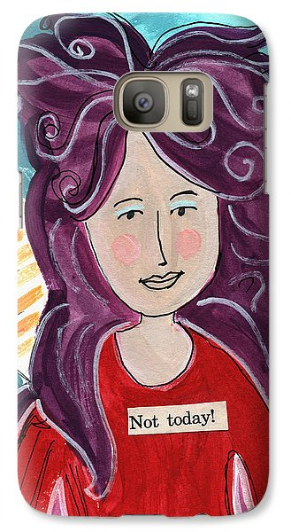 Fairy Galaxy S7 Case - The Not Today Fairy- Art By Linda Woods by Linda Woods