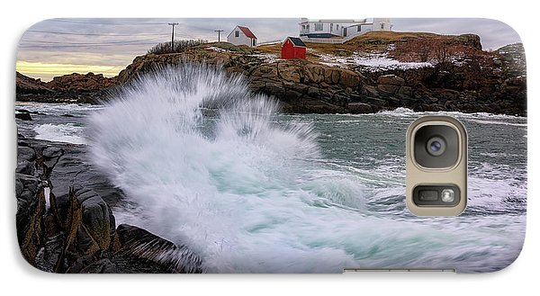 Galaxy Case featuring the photograph The Nubble After A Storm by Rick Berk