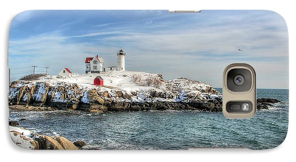 Galaxy Case featuring the photograph The Nubble Light by Adrian LaRoque