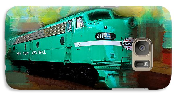 Galaxy Case featuring the painting Flash II  The Ny Central 4083  Train  by Iconic Images Art Gallery David Pucciarelli