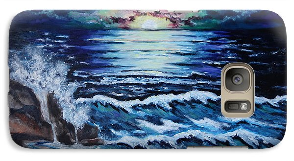 Galaxy Case featuring the painting The Ocean Sings The Sky Listens by Cheryl Pettigrew