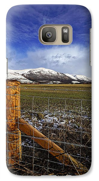 Galaxy Case featuring the photograph The Ochils In Winter by Jeremy Lavender Photography