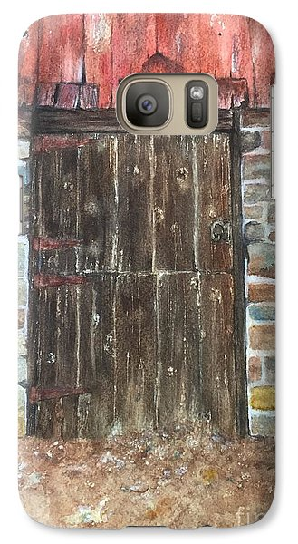 Galaxy Case featuring the painting The Old Barn Door by Lucia Grilletto