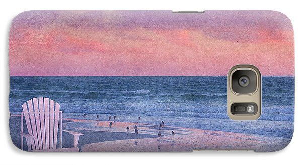 Sandpiper Galaxy S7 Case - The Old Beach Chair by Betsy Knapp