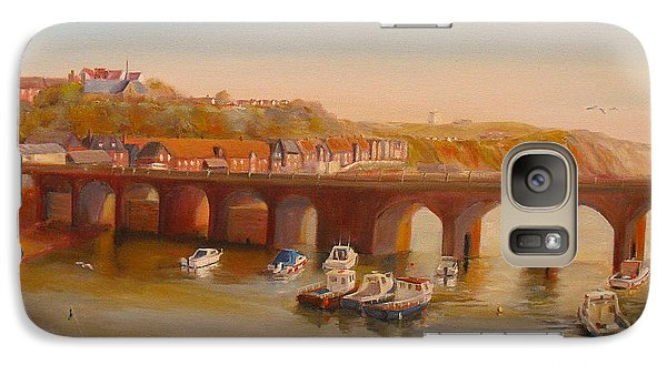 The Old Bridge - Folkestone Harbour Galaxy S7 Case by Beatrice Cloake