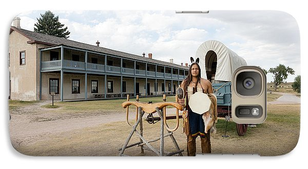 Galaxy Case featuring the photograph The Old Cavalry Barracks At Fort Laramie National Historic Site by Carol M Highsmith