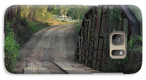 Galaxy Case featuring the photograph The Old Country Bridge by Kim Henderson