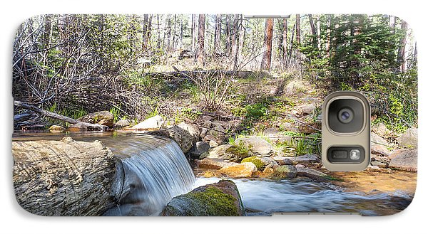 Galaxy Case featuring the photograph The Old Creek Falls by Anthony Citro