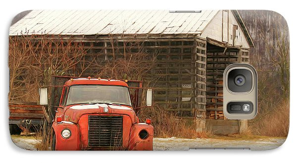 Galaxy Case featuring the photograph The Old Lumber Truck by Lori Deiter