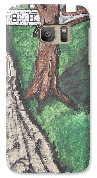Galaxy Case featuring the painting The Old Meat Cutter Griff by Jeffrey Koss