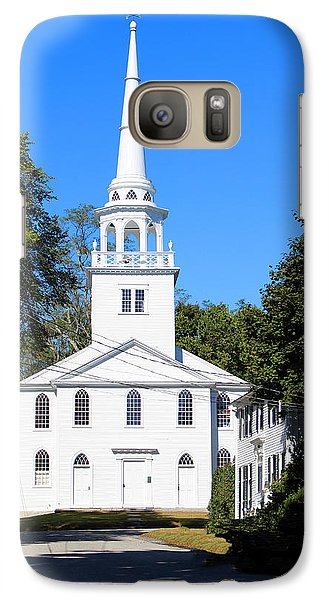 Galaxy Case featuring the photograph The Old Meeting House Yarmouth Me by Dick Botkin