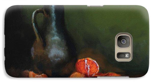 Galaxy Case featuring the painting The Old Stoneware Mug by Barry Williamson