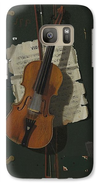 Violin Galaxy S7 Case - The Old Violin by John Frederick Peto