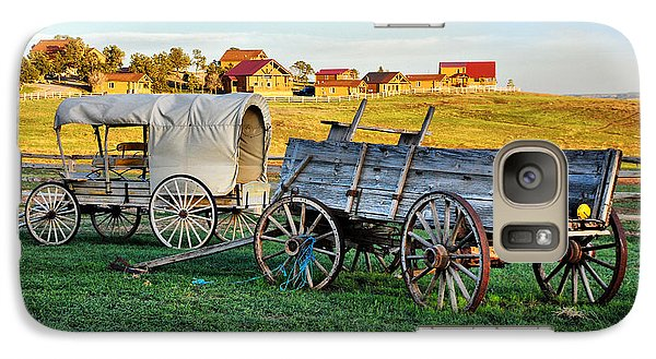 Galaxy Case featuring the photograph The Old West by Barbara Manis