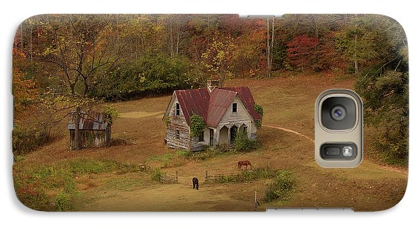 Galaxy Case featuring the digital art The Oldest House In North Carolina by Sharon Batdorf