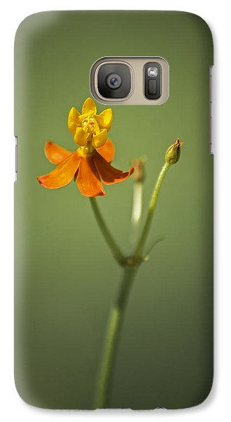 The One - Asclepias Curassavica - Butterfly Milkweed Galaxy S7 Case by Johan Hakansson