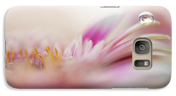 Galaxy Case featuring the photograph The One. Macro Gerbera by Jenny Rainbow