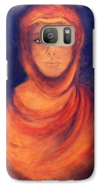Galaxy Case featuring the painting The Oracle by Marina Petro
