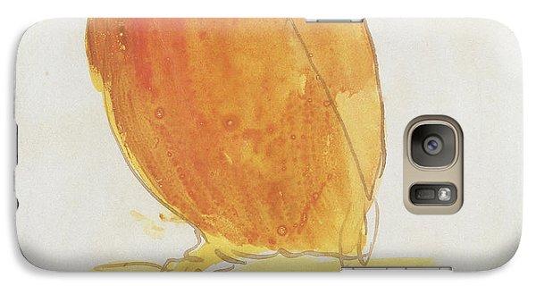 Parakeet Galaxy S7 Case - The Orange Color Bird by Edward Lear