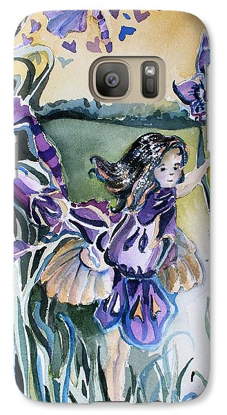 Galaxy Case featuring the painting The Orchid Fairy by Mindy Newman